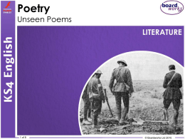 Poetry – Unseen Poems