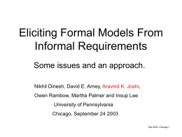 Eliciting Formal Models From Informal Requirements