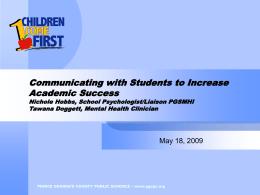 Title of Presentation - SchoolMentalHealth.org