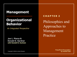 Management - Organizational Behavior, Pierce & Gradner