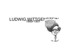 LUDWIG WITTGENSTEIN - Ecclesbourne School