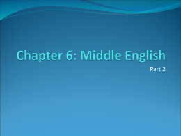 Chapter 6: Middle English