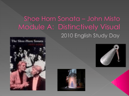 Shoe Horn Sonata Module A: Distinctively Visual
