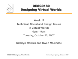 Automating the Design of Virtual Worlds Using Rational …