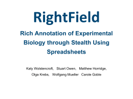 RightField Rich Annotation of Experimental Biology …