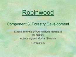 Component 3, Forestry Development