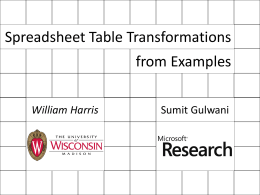 Spreadsheet Table Transformations from Examples