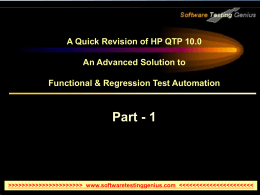 Learn HP QTP 10.0 - Part 1