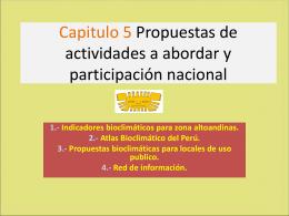 Propuestas de actividades