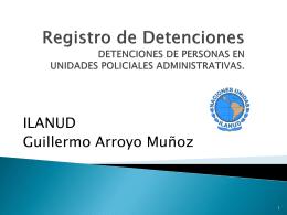 Registro de Detenciones DETENCIONES DE PERSONAS EN