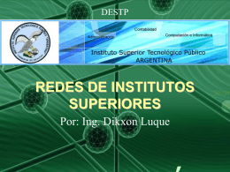 REDES DE INSTITUTOS SUPERIORES