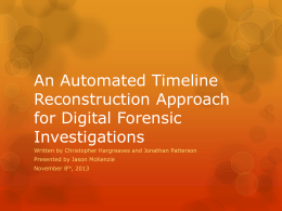 An Automated Timeline Reconstruction Approach for …