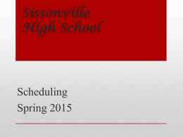 Sissonville High School - Kanawha County Schools