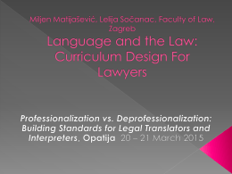 Functionalist approach in teaching legal translation