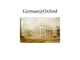 German@Oxford