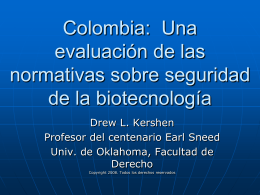 Guatemala: An evaluation of Biosafety Regulations