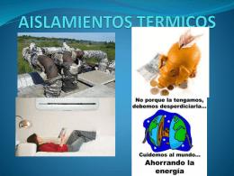 AISLAMIENTOS TERMICOS