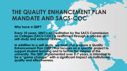 THE Quality enhancement plan mandate and sacs-