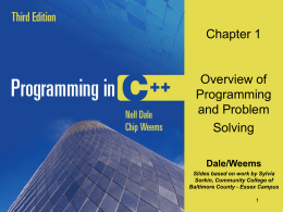 Programming and Problem Solving with C++, 2/e