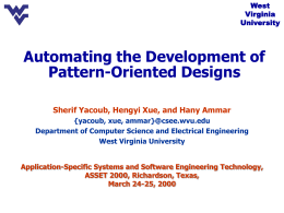 Pattern Oriented Analysis and Design (POAD)
