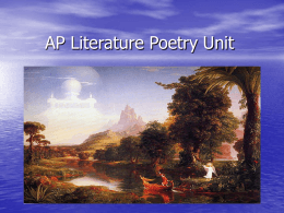 AP Literature Poetry Unit - Phillipsburg School District