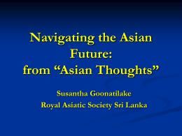 Navigating the Asian Future: from Asian Thoughts