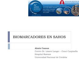 BIOMARCADORES EN SAHOS