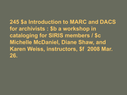 245 |a Using MARC 21 for description and access : |b a