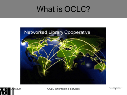 OCLC an Overview
