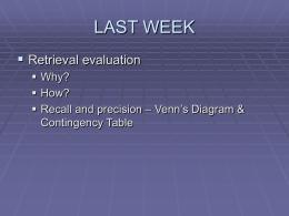 WMES3304/WXGB5008 INFORMATION RETRIEVAL