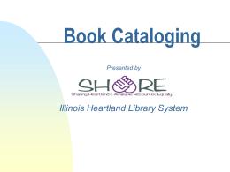 Book Cataloging