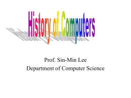 Lecture 1 - SJSU Computer Science Department
