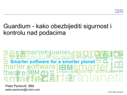 IBM InfoSphere Guardium - RECRO-NET
