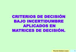 OBJETIVOS MULTIPLES - Inicio | Facultad de Ciencias