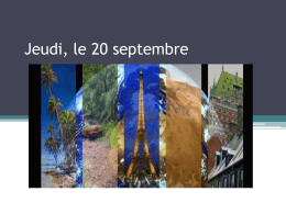 Jeudi, le 20 septembre - Klein Independent School District