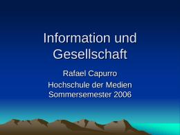 Information und Gesellschaft