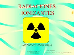 RADIACIONES IONIZANTES - Bienvenido a RIDSSO