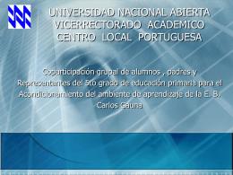 UNIVERSIDAD NACIONAL ABIERTA VIVERRECTORADO …