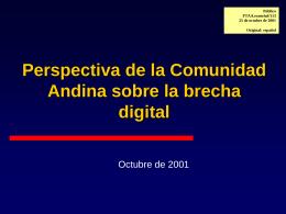 FTAA.ecom/inf/113 25 de octubre de 2001 Perspectiva de …
