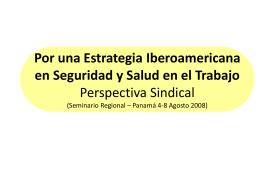 Por una Estrategia Iberoamericana en Seguridad y Salud en