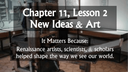 Chapter 11, Lesson 2 New Ideas and Art