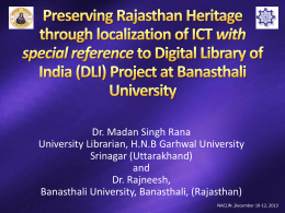 Preserving Rajasthan Heritage through localization of ICT