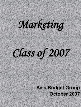 Marketing Class of 2007