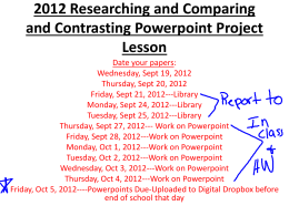 2012 Researching and Comparing and Contrasting …