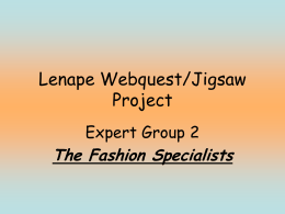 Lenape Jigsaw Project - Swedesboro