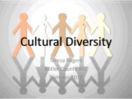 Cultural Diversity - SchoolWorld an Edline Solution