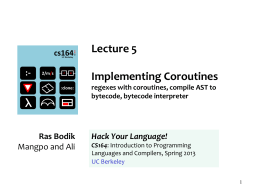 cs164: Introduction to Programming Languages and …