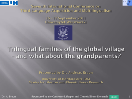 Sixth International Conference on Third Language
