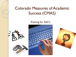 CMAS Colorado Measures of Academic Success