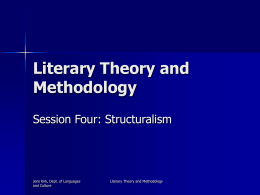 Literary Theory and Methodology
